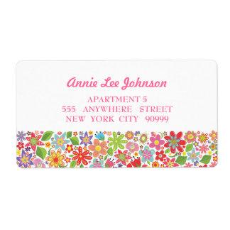 Bright Flower Garden Personalized Address Labels