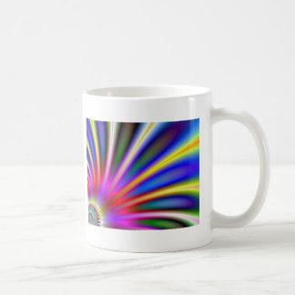 Bright flower like fractal abstract design mugs