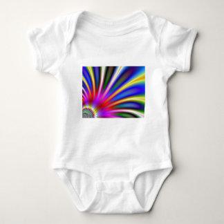 Bright flower like fractal abstract design shirt