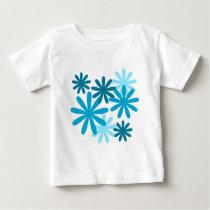 Bright Flower Pattern Baby T-Shirt