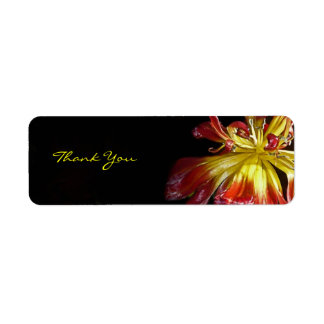 Bright Flower Thank You Label
