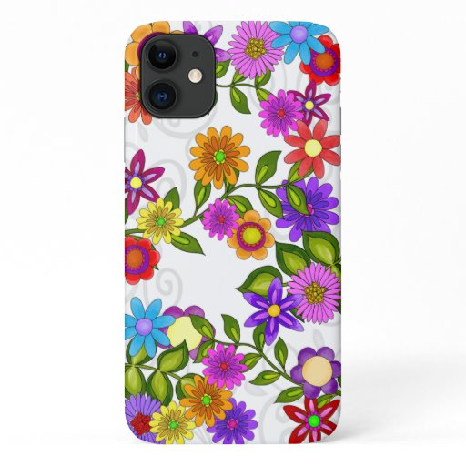 Bright Flowers iPhone 11 Case