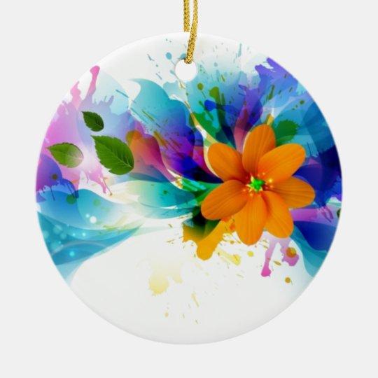 bright flowers.jpg ceramic ornament