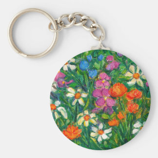 Bright Flowers Keychain