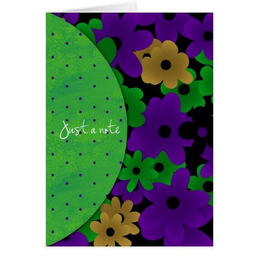 bright flowers notecard greeting card