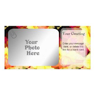 Bright Flowers PhotoCard Template Custom Photo Card