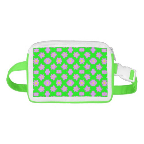 Bright Flowers Pink on Green Fanny Pack