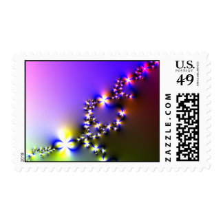 Bright flowers postage stamp