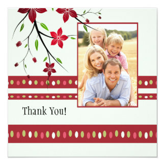 Bright Flowers Thank You Photo Card
