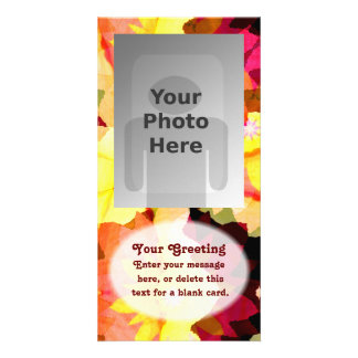 Bright Flowers Vertical PhotoCard Template Personalized Photo Card