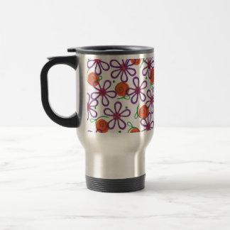 Bright Flowers with Fun Swirls and Dots Mugs