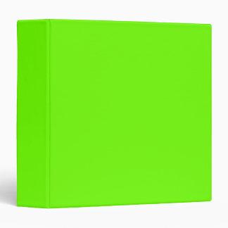 Bright Fluorescent Neon Green Binder