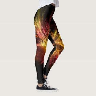 Bright fractal abstract design, original leggings