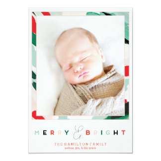 Bright Frame Holiday Photo Card