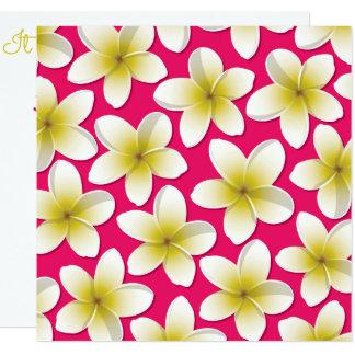Bright Frangipani/ Plumeria flowers Card