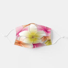 Bright Frangipani/ Plumeria flowers Cloth Face Mask