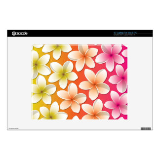 "Bright Frangipani/ Plumeria flowers Decal For 12"" Laptop"