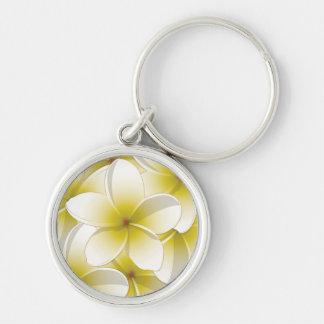 Bright Frangipani/ Plumeria flowers Keychain