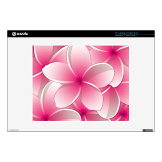 Bright Frangipani/ Plumeria flowers Laptop Decal