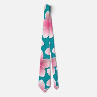 Bright Frangipani/ Plumeria flowers Neck Tie