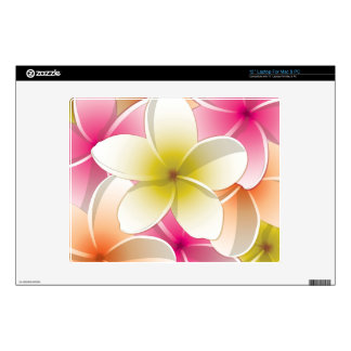 "Bright Frangipani/ Plumeria flowers Skin For 12"" Laptop"