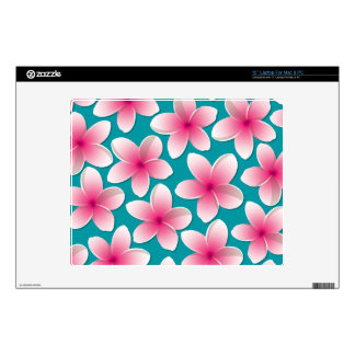 Bright Frangipani/ Plumeria flowers Skin For Laptop
