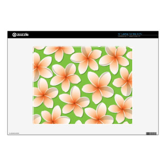 "Bright Frangipani/ Plumeria flowers Skins For 12"" Laptops"