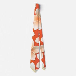Bright Frangipani/ Plumeria flowers Tie