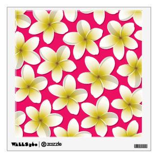 Bright Frangipani/ Plumeria flowers Wall Sticker