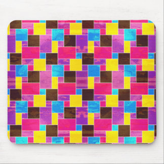 Bright French Tile Grunge Mouse Pad