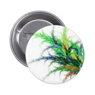 Bright Fronds Fractal Button