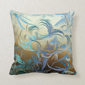 Bright Frost Throw Pillow