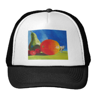 Bright Fruit Painting Hats