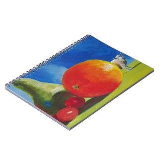 Bright Fruit Painting Spiral Note Book