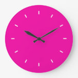 Bright Fuchsia Durable Complementary Color Clock