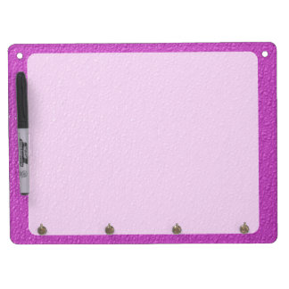Bright Fuchsia  Neon Trendy Colors Dry Erase Board With Keychain Holder