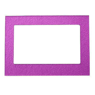 Bright Fuchsia  Neon Trendy Colors Magnetic Frame