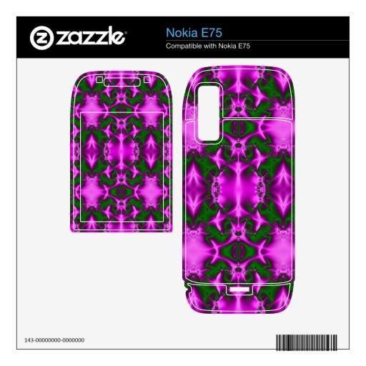 bright fuchsia pink green fractal abstract nokia e75 skin