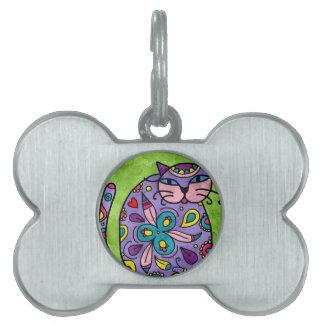 Bright fun Cat Design Pet Tag
