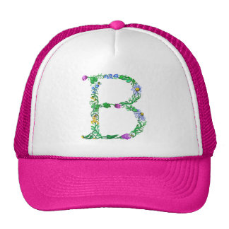 Bright Fun Colorful hand drawn Monogram B Trucker Hat