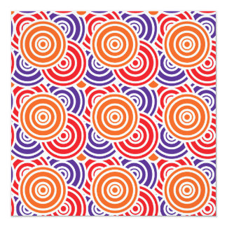 Bright Fun Concentric Circle Pattern Gifts Card