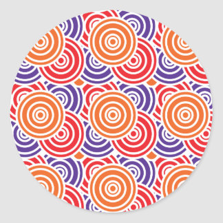 Bright Fun Concentric Circle Pattern Gifts Classic Round Sticker
