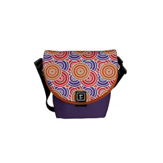 Bright Fun Concentric Circle Pattern Gifts Courier Bag