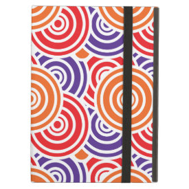 Bright Fun Concentric Circle Pattern Gifts iPad Cover