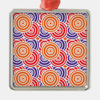 Bright Fun Concentric Circle Pattern Gifts Metal Ornament