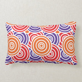Bright Fun Concentric Circle Pattern Gifts Throw Pillows
