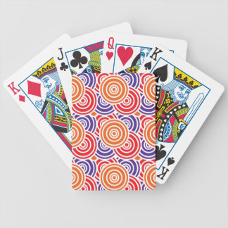 Bright Fun Concentric Circle Pattern Gifts Bicycle Poker Deck