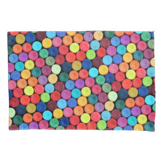 Bright Fun Crayon Polka Dots Pillowcase