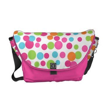 Beach Themed Bright Fun Dots Messenger Bag