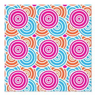 Bright Fun Layered Concentric Circles Pattern Gift Card